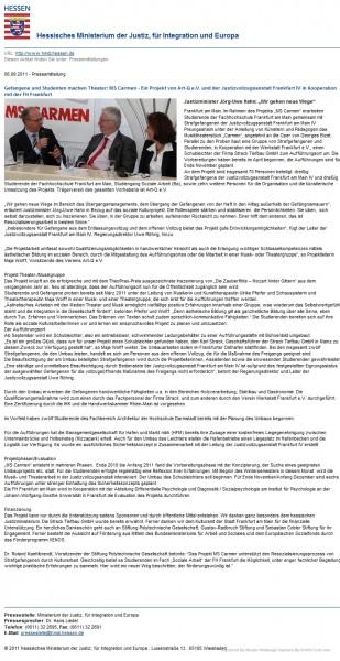 aus: Ministerium der Justiz, 06. September 2011