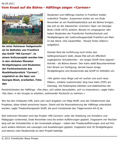 aus: fnp.de, 06. September 2011